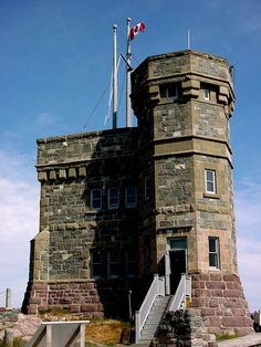 Cabot Tower - guarding the entrance to St. John's Harbour, overlooking the city, St. Newfoundland Canada, Newfoundland And Labrador, O Canada, Canada Travel, Cabot Tower, Take Better Photos, Cool Landscapes, Landscape Photos, East Coast