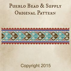 I designed this Woodland Tribe bead loom pattern for use with a beading loom or with square stitch. Its a Pueblo Bead & Supply original design and can be used to create items for personal use ONLY. This pattern was inspired by the vibrant colors and patterns I see around me in Albuquerque, New Mexico. The pattern will create a wide cuff bracelet (or headband, bookmark - whatever your imagination can come up with!)  If using Delica seed beads, this bracelet will have the following approximate…