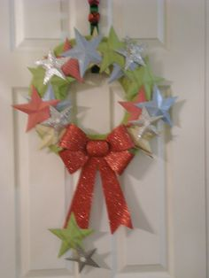Star wreath -colors to match Abi's bday