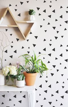Tiny Hand Sketched Triangles  - WALL DECAL