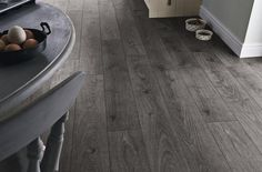 Howdens Professional Fast Fit V Groove Dark Grey Oak Flooring