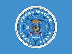 Pedal Wagon Coaster Art