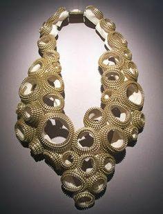 Inspiring zipper jewelry by Kate Cusack