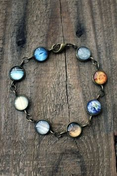 Solar System Bracelet Jerseymaids Etsy. There's one missing! ;)