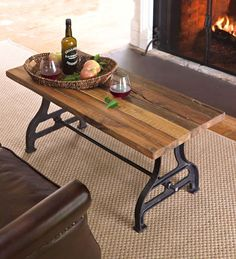 Reclaimed Wood Bench With Iron Base | Outdoor Benches U0026 Chairs