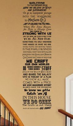 In this House We Do Geek CUSTOMIZABLE Vinyl wall Decal V33