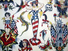 Vintage Tattoo Flash Art 38 by bonniegrrl, via Flickr