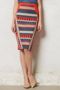 I. NEED. This. Skirt! Merida Pencil Skirt - Anthropologie.com