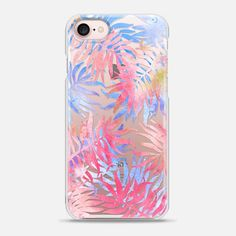 Tropical Palm Print - Snap IPhone case. For beach babes, surf girls and real life mermaids.