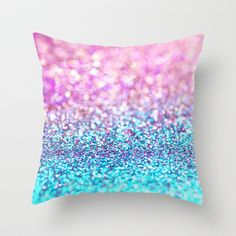 Pastel sparkle- photograph of pink and turquoise glitter Throw Pillow by Sylvia Cook Photography from Saved to pillows. Turquoise Pillows, Gold Pillows, Cute Pillows, Throw Pillows, Cheap Pillows, Diy Room Decor For Teens, Cute Bedroom Decor, Living Room Decor Pillows, Bedroom Ideas