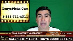 Washington St Cougars vs. Oregon St Beavers Pick Prediction College Foot...