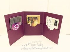 Triple Gift Card Holder with You're Sublime Stamp Set :: Confessions of a Stamping Addict