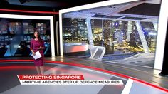 The Singapore Tonight virtual window uses Viz virtual window to host our design within a large format LED screen. This is a true, virtual set, comprised of geometry… Tv Set Design, Virtual Studio, Tv Sets, Window Design, Large Format, Camera Lens, Geometry, Singapore, Windows
