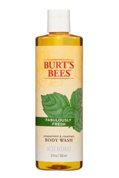 The peppermint in this body wash will invigorate your morning shower. Burt's Bees Fabulously Fresh Peppermint & Rosemary Body Wash, $8.
