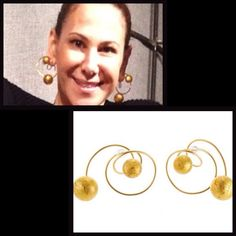 if you were wondering what they look like on - here's Alyson Cafiero wearing fabulous/fun  JAR earrings    #jewelsbyjar #jarparis #joelarthurrosenthal #jar #overmydeadrubies