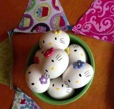 Huevos de pascua, hello kitty