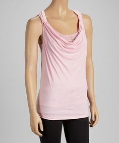 Take a look at this Pink Drape Neck Tank by GAZOZ, INC. on #zulily today!