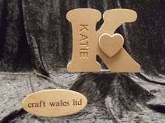 Wooden Letters MDF  Names word sign Heart love gift special occasion Birthday