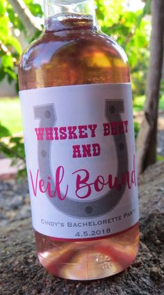 Whiskey bent and veil bound super fun labels for a country wedding!