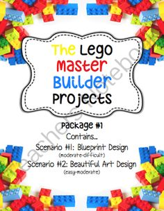 Lego Master Builder: Area, Fractions, Comparisons, Art & Design, MimioBoard from Art with Ms. Gram on TeachersNotebook.com -  (17 pages)  - Lego Master Builder: Area, Fractions, Comparisons, Art & Design  This packet contains two separate lego master builder projects. Both projects are designed to engage students by presenting applicable math concepts in a fun way. The first activity is d