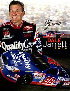 4 Page NASCAR Legend Dale Jarrett Autograph Hand Signed Promo Material 2