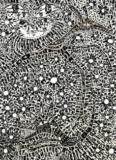 "Yusuke Asai / Forest Streets"" (2010). Pen on paper, masking tape."