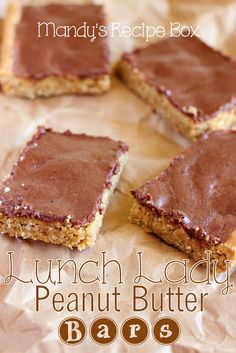 Who remembers their favorite dessert from school lunch? Lunch Lady Peanut Butter…