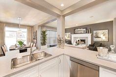 Kitchen - Living - Dining Room Living Room Decor, Living Spaces, Dining Room, Kitchen Inspiration, Kitchen Ideas, Loft Ideas, Kitchen Living, Dream Homes, Home Kitchens