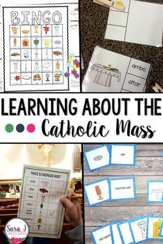 Learning the Items from the Catholic Mass Four different ways to teach your students the names for the items commonly found during a Catholic Mass. Catholic Schools Week, Catholic Religious Education, Catholic Mass, Catholic Homeschooling, Catholic Crafts, Teaching First Grade, Teaching Kindergarten, Ccd Activities, Religion Activities