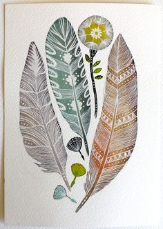 "Watercolor Painting - Nature Art - Archival Print - 5""x7"" light as a feather"
