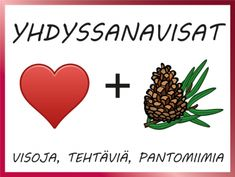 Yhdyssanavisat, yhdyssanajono-tehtävät ja yhdyssanapantomiimikortit Occupational Therapy, Speech Therapy, Primary English, Anna Mennä, School Fun, Kids Learning, Finland, Compass Tattoo, Classroom