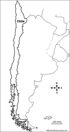 outline map chile