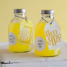 DIY Limoncello wedding favors {grey and yellow theme}