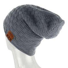 40973de6 Winter ChenFec Bluetooth Headset Knit Hats Bluetooth 4.0Music Player Hat  Earphone Beanie