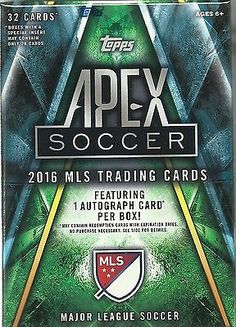 2016 Topps APEX Soccer MLS Trading Cards New Sealed Value Box = 1 Auto Per Box