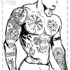 Viking tattoo - viking symbols, nordic runes and their meaning as a tattoo . - Viking tattoo – viking symbols, nordic runes and their meaning as tattoos … - Viking Tattoos For Men, Viking Rune Tattoo, Viking Tattoo Sleeve, Norse Tattoo, Celtic Tattoos, Tattoos For Guys, Sleeve Tattoos, Fear Tattoo, Armor Tattoo