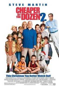 Watch Cheaper by the Dozen 2 Free Online - Steve Martin and Bonnie Hunt return as heads of the Baker family who, while on vacation, find themselves in competition with a rival family of eight children, headed by Eugene Levy, Steve Martin, Comedy Movies, Hd Movies, Movies Online, Movie Tv, Movies Free, Teen Movies, Watch Movies, Bonnie Hunt
