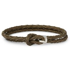 MiansaiWoven-Leather and Silver Hook Wrap Bracelet|MR PORTER