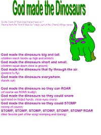 God made the Dinosaurs color poster
