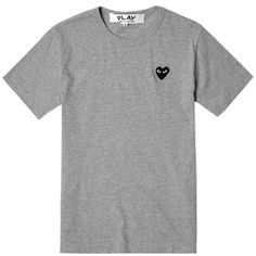Comme des Garcons Play Basic Logo Tee (Grey & Black)