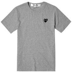 Comme des Garcons Play Basic Logo Tee (Grey & Black)
