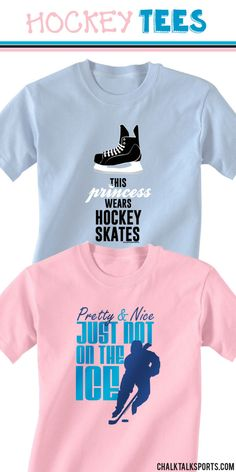 Take a break from the ice and relax in our comfortable hockey tees! We offer many designs, so you are sure to find the perfect hockey tee for that special hockey player in your life. These girls hockey T-shirts make great gifts for girls hockey players of all ages! Only from ChalkTalkSPORTS.com!