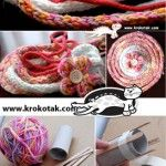 Diy French knitting doll using tp roll and Popsicle sticks. How to Make an I-CORD? Yarn Crafts For Kids, Craft Activities For Kids, Crafts To Do, Spool Knitting, Knitting Machine, Yarn Bracelets, Ramadan Crafts, I Cord, Knitted Flowers