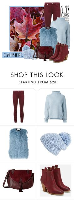 """""""cozy cashmere sweater"""" by bb-tka ❤ liked on Polyvore featuring 7 For All Mankind, Le Kasha, Oscar de la Renta, Shiraleah, Madden Girl, JustFab and Skagen"""