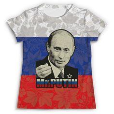 """Футболка с полной запечаткой """"Президент России В. В. Путин ( Mr.Putin )"""" от Chance777 - Printio"""