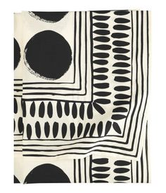 Black and White handpainted tablecloth / Linen/ by EkatIrinaArt