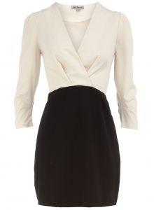 Black & white long sleeve dress - Holiday Party dress