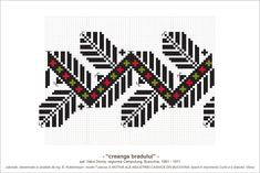 motiv traditional creanga bradului - Căutare Google Cross Stitch Borders, Hama Beads, Beading Patterns, Pixel Art, Traditional, Embroidery, Costume, Group, Country