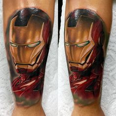 Been behind on posting things since iv been back from my Evian trip so here's a rad ironman piece I made the other day on a nice dude it's apart of a marvel sleeve can't wait to add more to it. Done with used my spektraedge and by audie_tattoos Dc Tattoo, Comic Tattoo, Leg Tattoos, Sleeve Tattoos, Cool Tattoos, Tatoos, Avengers Tattoo, Marvel Tattoos, Pretty Tattoos