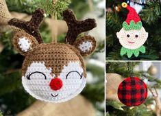 If you want do take your Christmas decor to the next level and feel the magic, use some of those patterns to crochet beautiful hanging ornaments. Crochet Christmas Decorations, Crochet Christmas Ornaments, Glass Christmas Tree Ornaments, Felt Ornaments, Hanging Ornaments, Christmas Crafts, Beaded Ornaments, Homemade Christmas, Christmas Bells